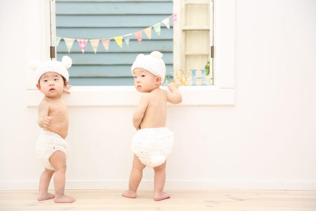 【バースデイ】1歳双子
