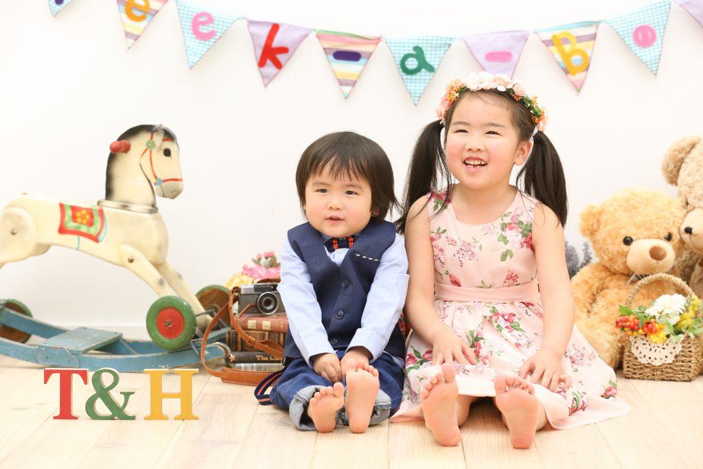 【バースデイ】5歳、2歳姉弟