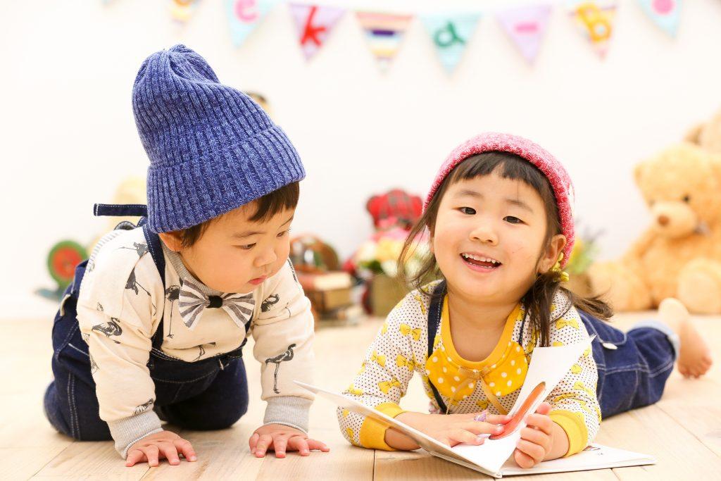 【バースデイ】3歳、1歳姉弟