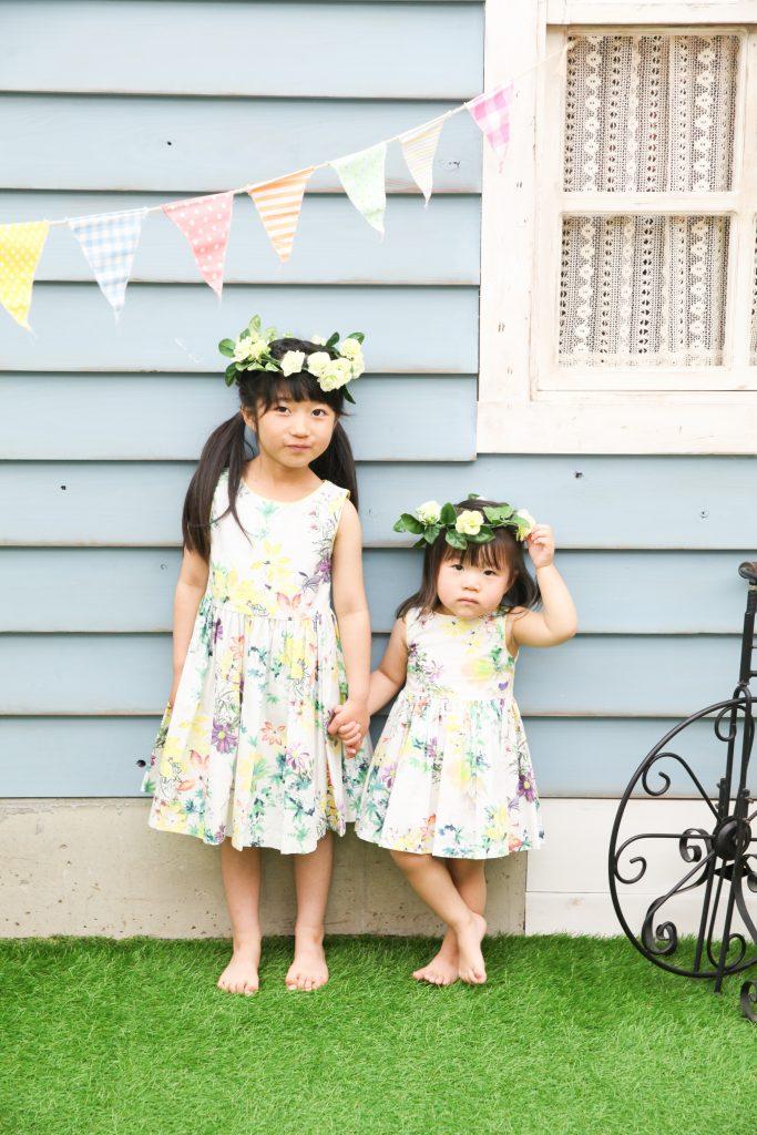 【バースデイ・入学】2歳と6歳の女の子