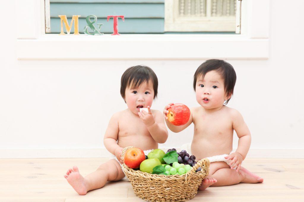 【バースデイ】1歳双子の男の子と女の子