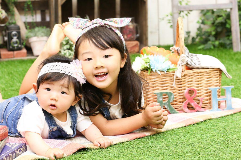 【姉妹撮影】0歳と6歳の女の子