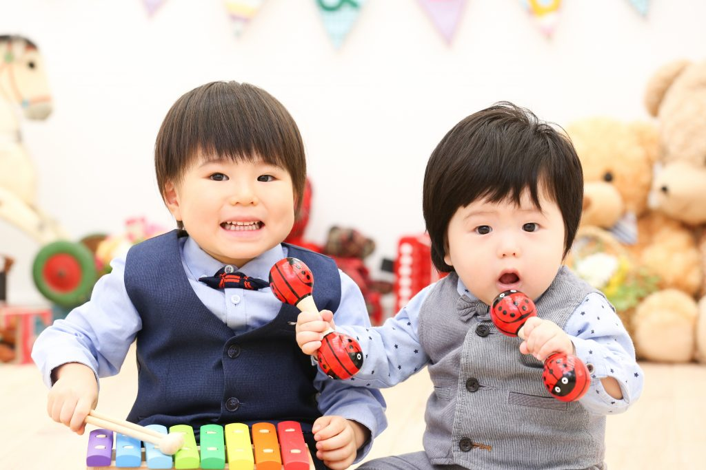 【バースデイ】3歳と0歳男の子