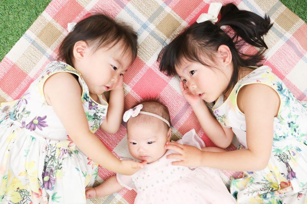 【お宮参り】0歳女の子とお姉ちゃんたち