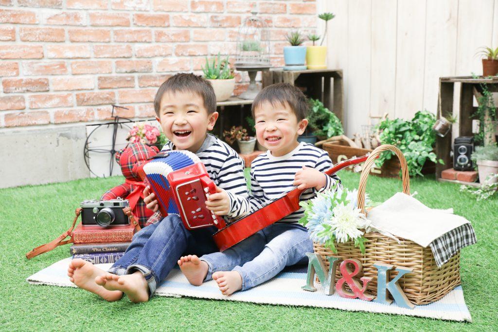 【バースデイ】4歳と2歳の兄弟