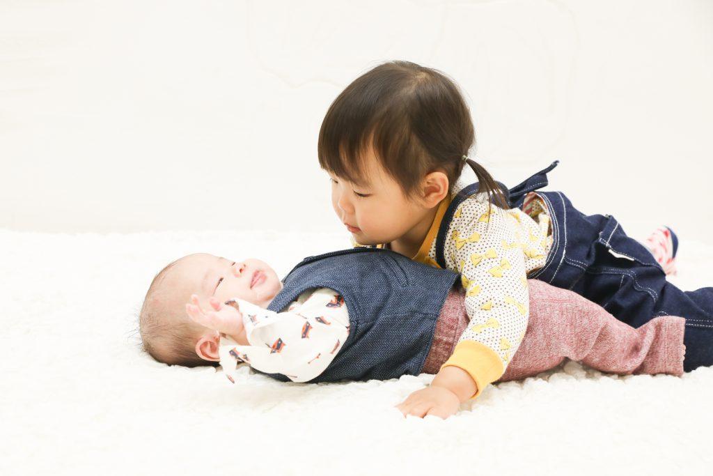 【お宮参り・バースデイ】3か月男の子と2歳女の子