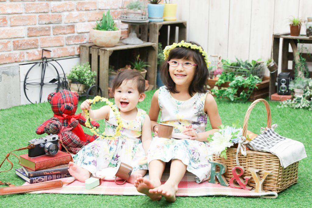 【バースデイ・入学】1歳と6歳女の子