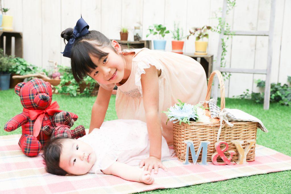 【お宮参り・卒園入学】4か月女の子・6歳女の子