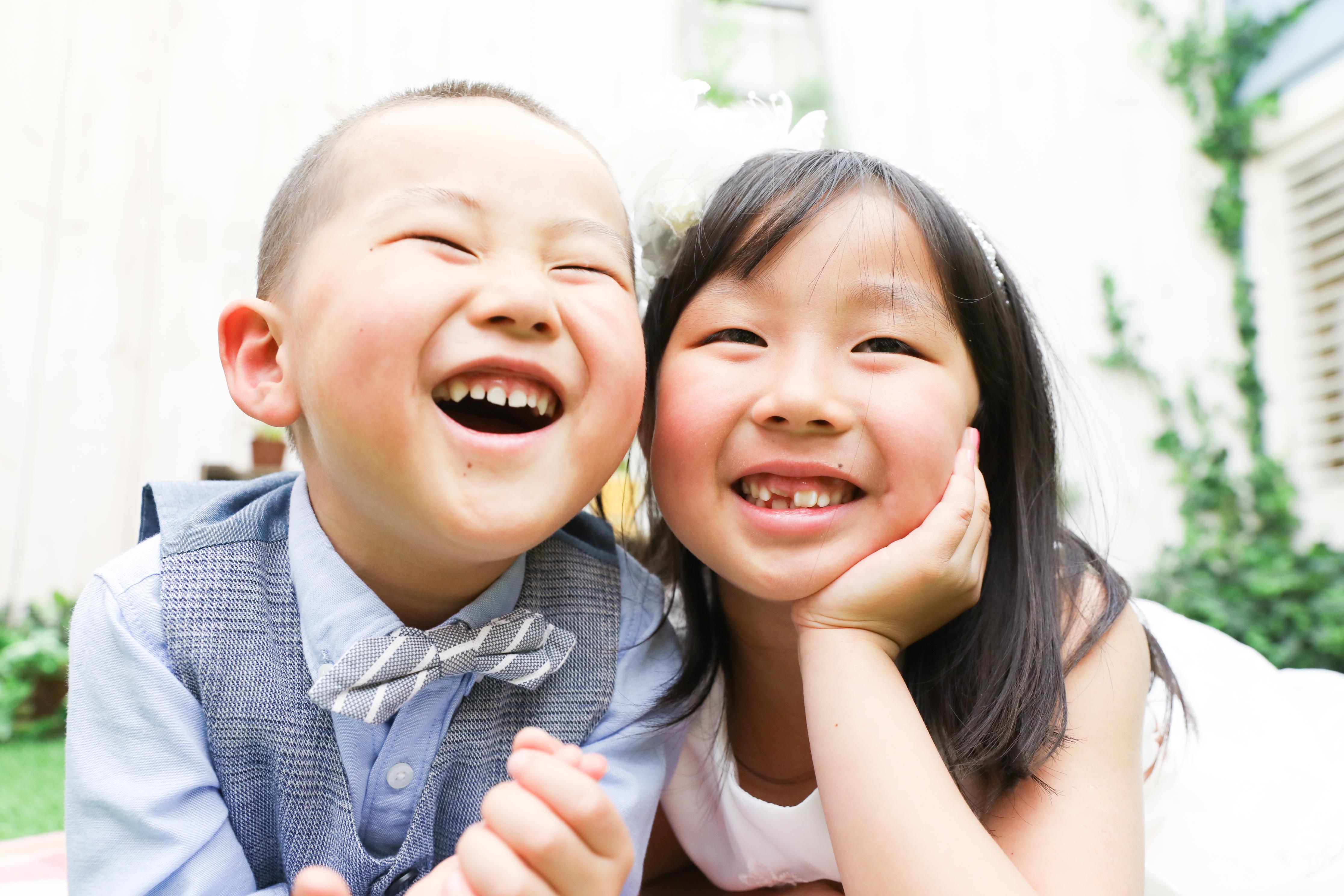 【撮影練習】3歳男の子、6歳女の子