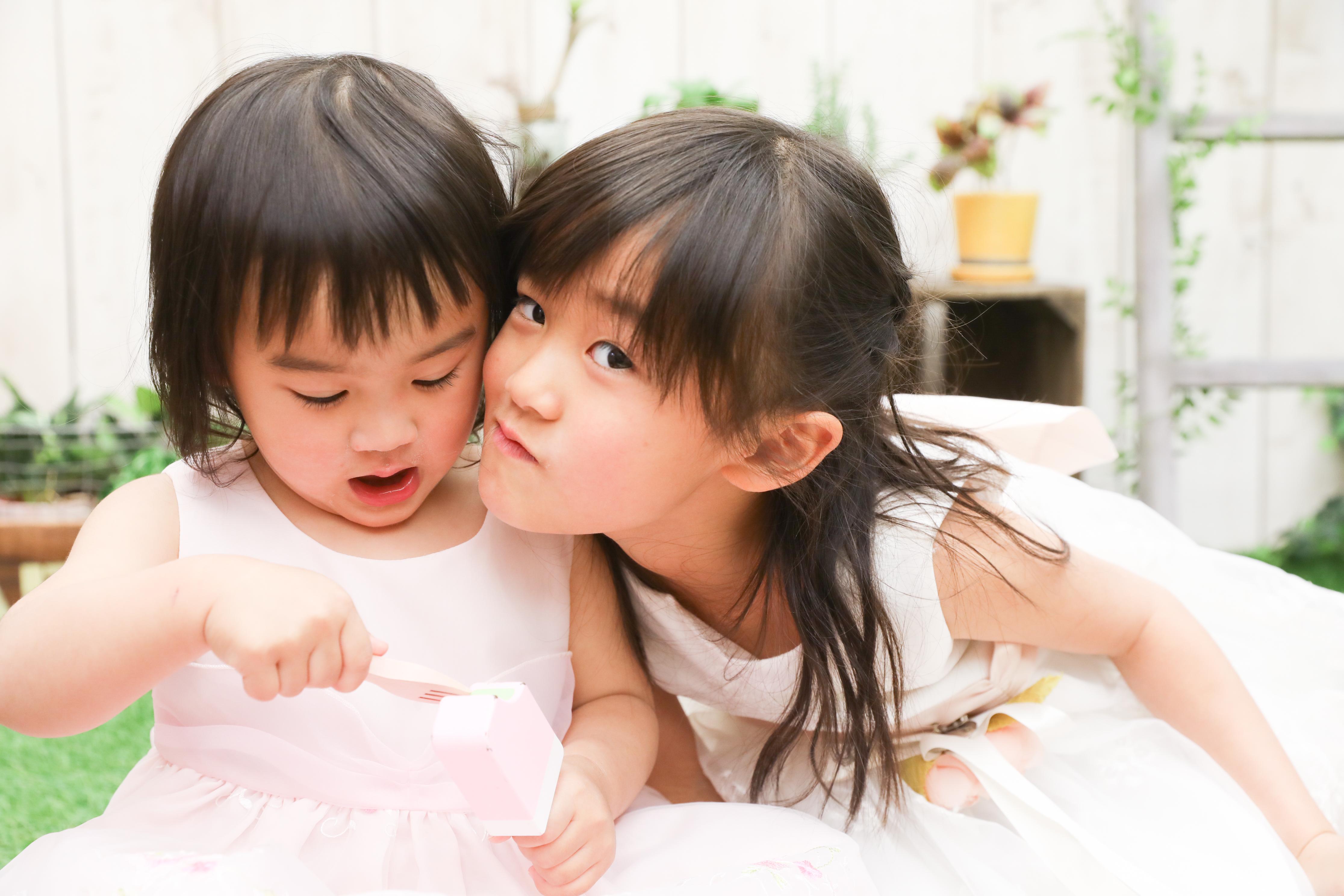 【入学・バースデイ】2歳6歳の姉妹ちゃん