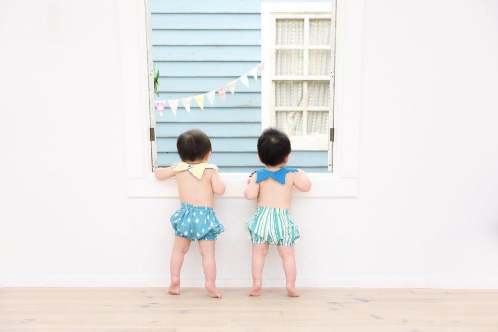 【バースデイ】1歳双子の撮影