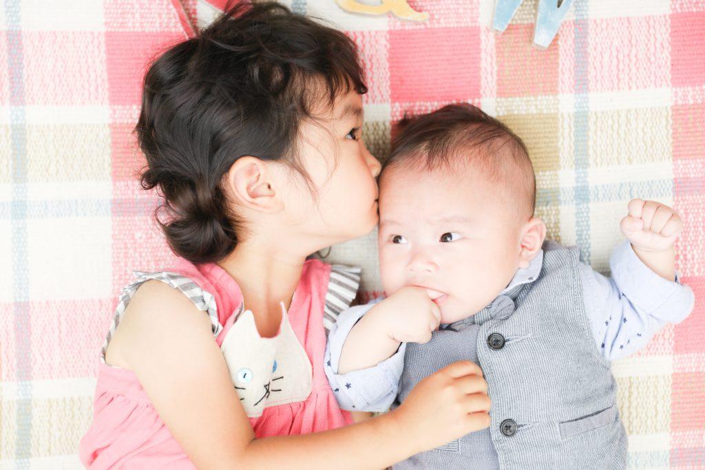 【100日記念・バースデイ】3ヶ月男の子・3歳女の子