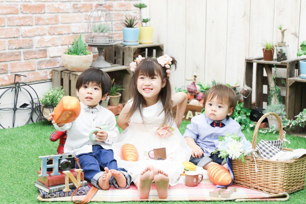 【バースデイ】5歳・2歳・1歳の姉弟