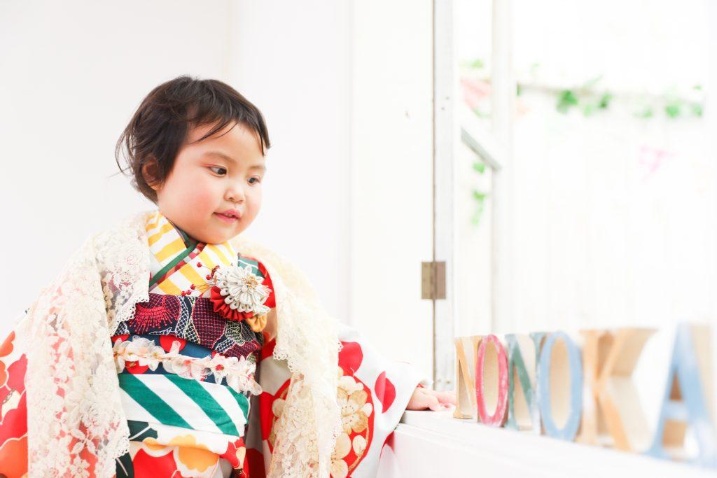 【753コラボ着物】3歳女の子と兄妹