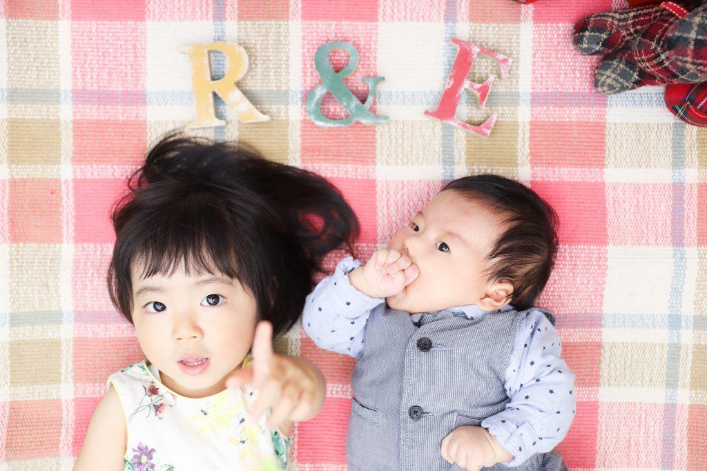 【お宮参り】2歳・0歳の姉弟