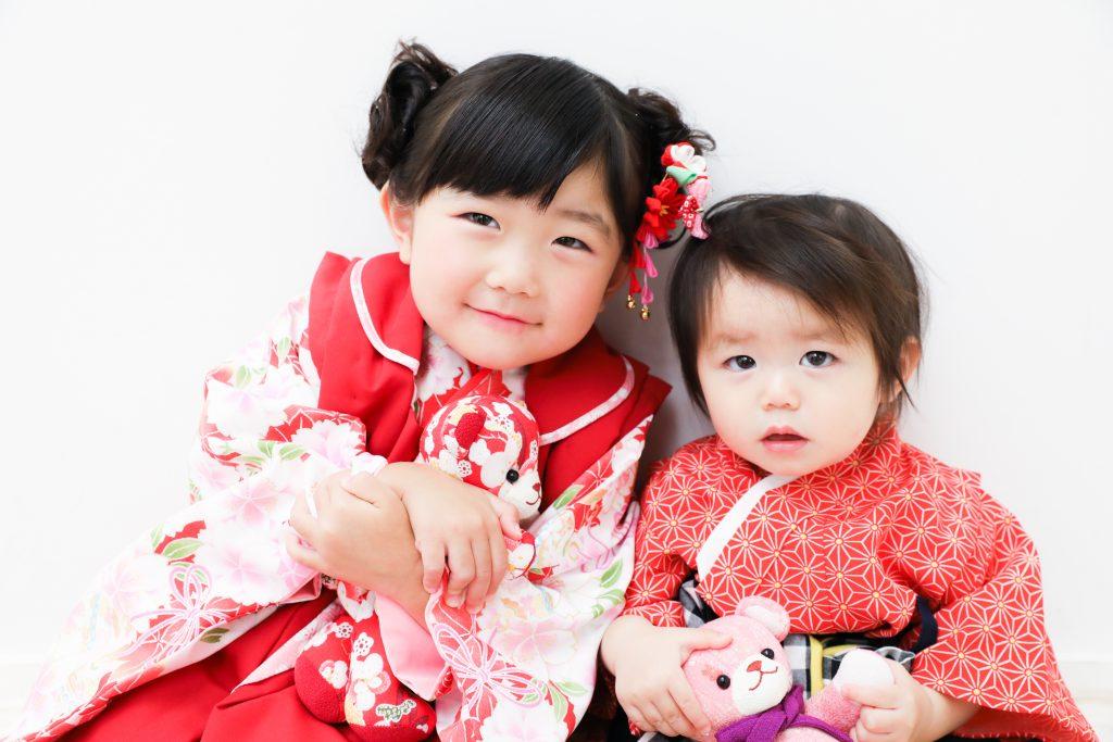 【753・バースデイ】3歳女の子・1歳女の子
