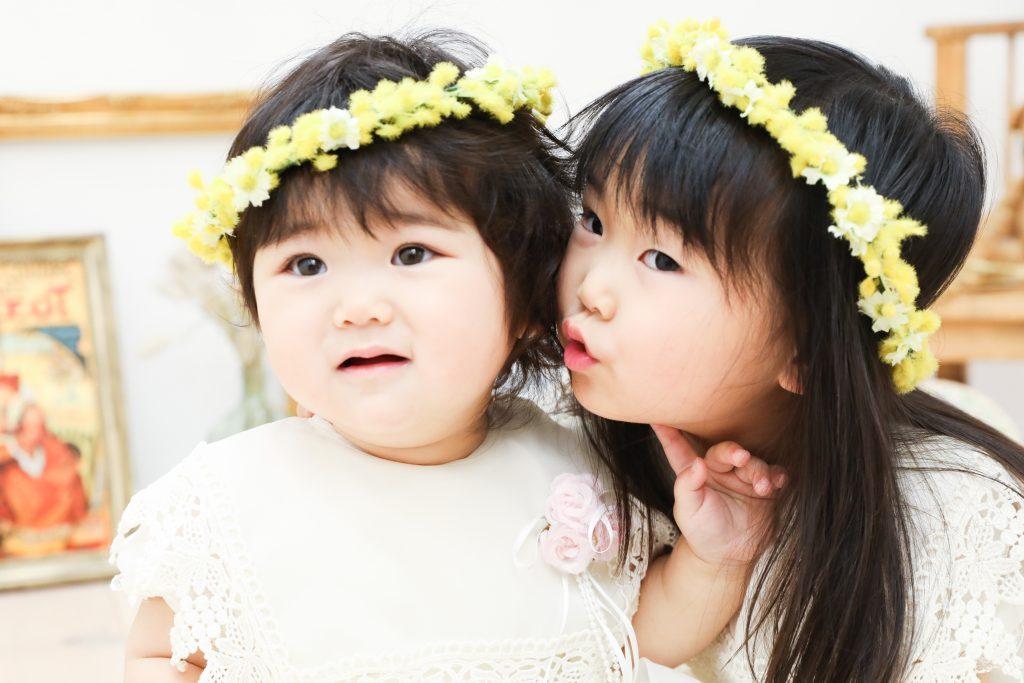 【バースデー】3歳・1歳の姉妹