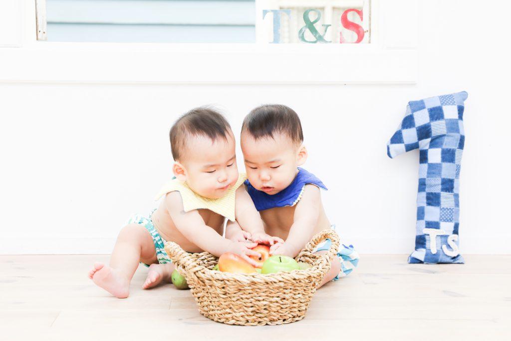 【バースデイ】1歳双子ちゃん