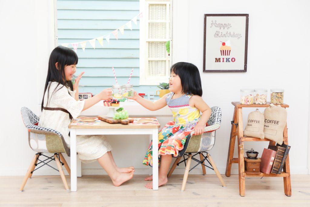 【入学・バースデー】6歳・3歳の姉妹