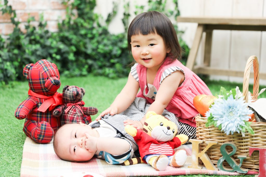 【100日・バースデー】2歳・0歳の姉弟