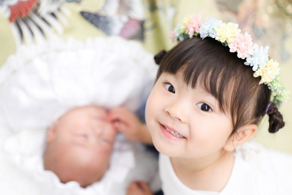 【入園・お宮参り・バースデー】4歳・0歳兄妹