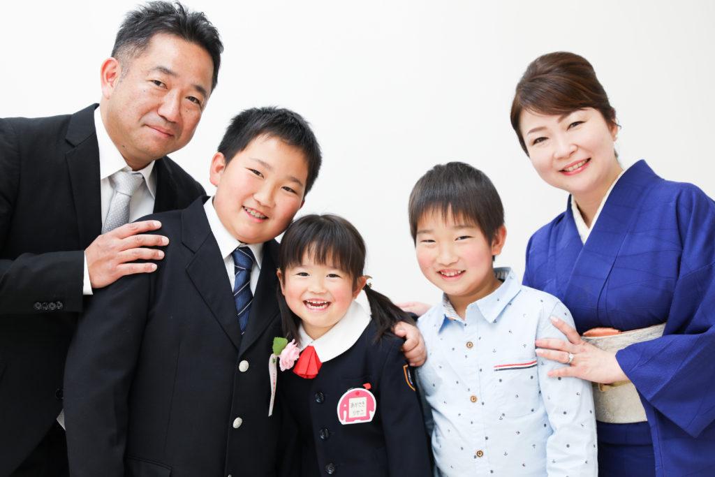 【入園・入学】3歳女の子・12歳男の子