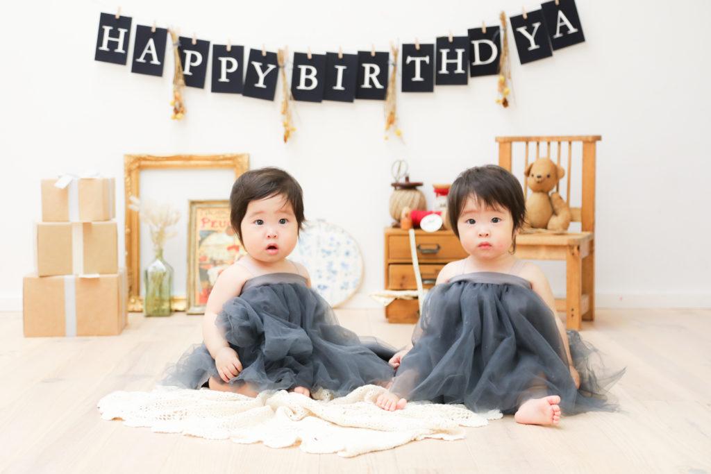 【バースデイ】1歳双子姉妹