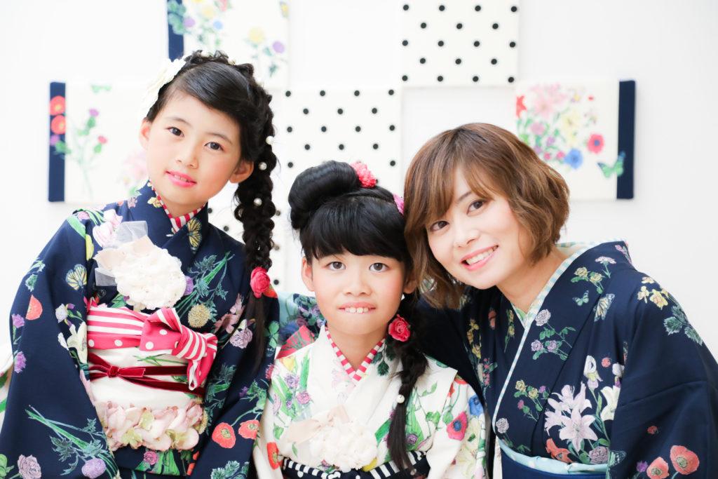 【作家コラボ着物】9歳・11歳姉妹