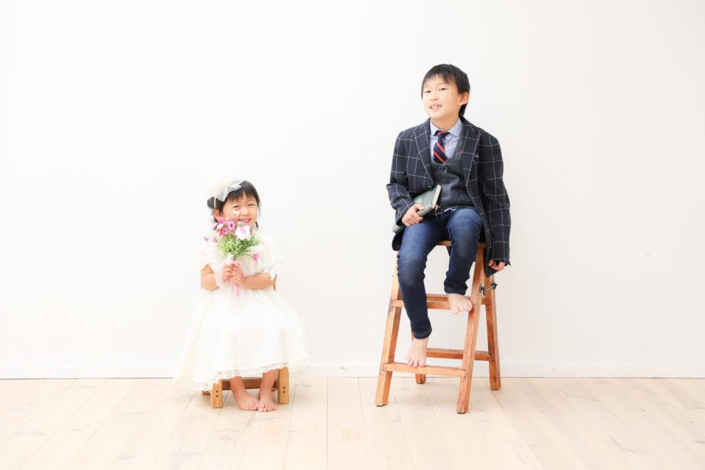 【入学撮影】7歳男の子、3歳女の子