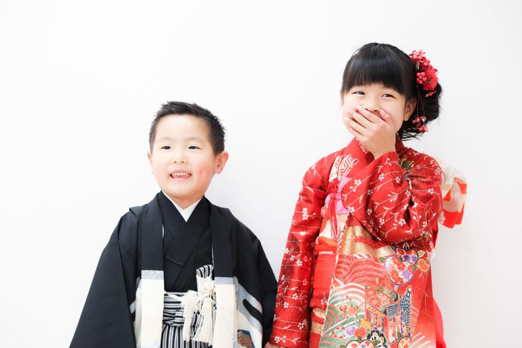 【753・お宮参り】6歳女の子・5歳男の子