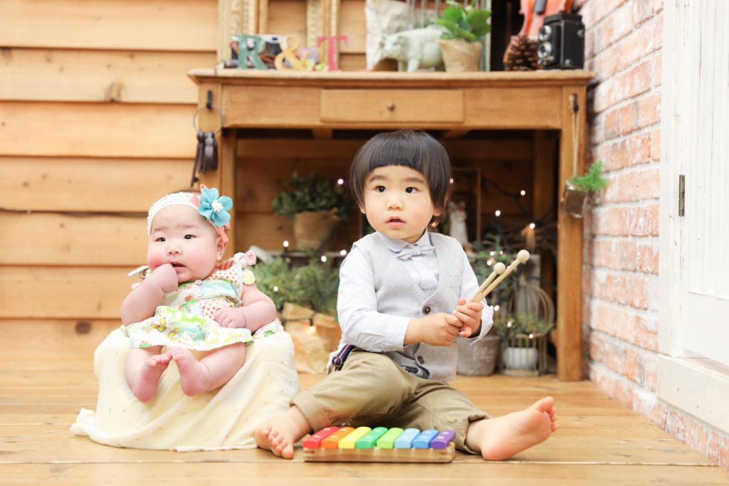 【ハーフバースデイ・バースデイ】6か月女の子・2歳男の子