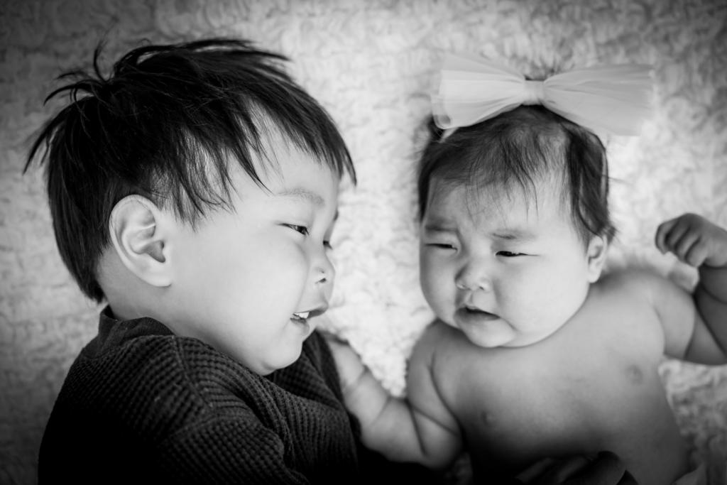 【入園・お宮参り】3歳男の子、4か月女の子