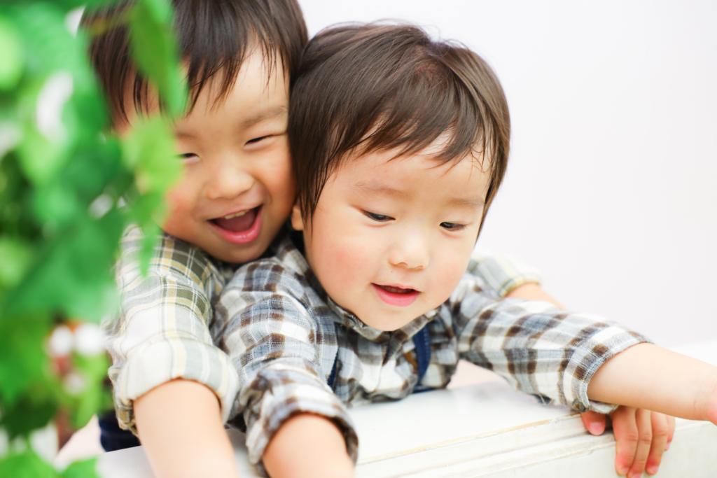 【入園・バースディ】3歳と2歳の兄弟
