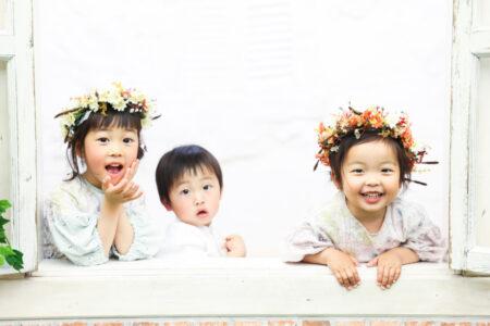 【入園・バースデイ】5歳・3歳女の子、2歳男の子