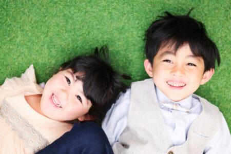 【入学・卒業】6歳男の子、4歳女の子